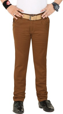 Clench Slim Fit Boy's Brown Trousers
