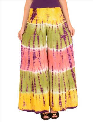 Skirts & Scarves Regular Fit Women's Yellow, Purple Trousers