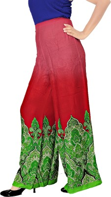 Khushali Regular Fit Women's Red, Multicolor Trousers