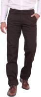 Dad Regular Fit Mens Brown Trousers