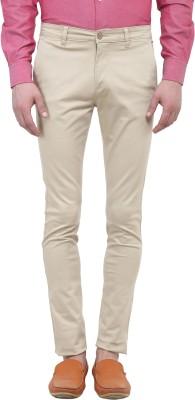 Colors Couture Slim Fit Men's Beige Trousers