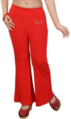 Mint Regular Fit Girl's Red Trousers