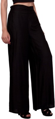MSONS Regular Fit Women's Black Trousers