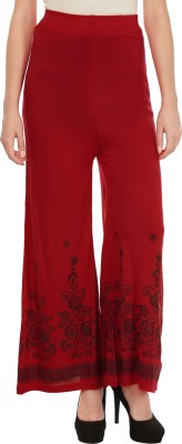 Haniya Regular Fit Women's Red Trousers