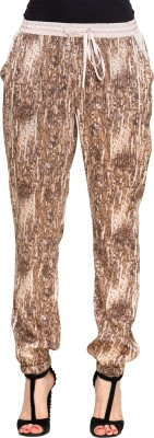 Oxolloxo Regular Fit Women,s Brown Trousers