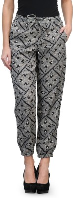 Kiosha Slim Fit Women's Black Trousers
