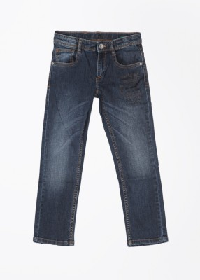 United Colors of Benetton Slim Fit Baby Boy's Blue Trousers
