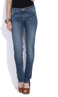 Van Heusen Regular Fit Women's Blue Trousers at flipkart