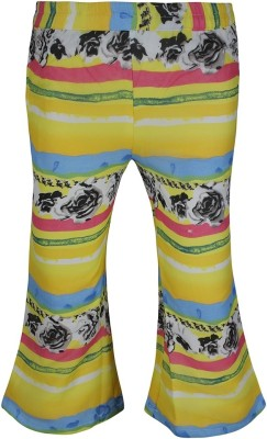 Jazzup Regular Fit Girl's Yellow, Blue Trousers