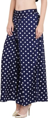 Myshka Regular Fit Women's Blue Trousers at flipkart