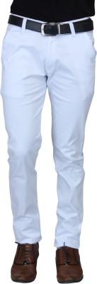 Nimegh Slim Fit Men's White Trousers