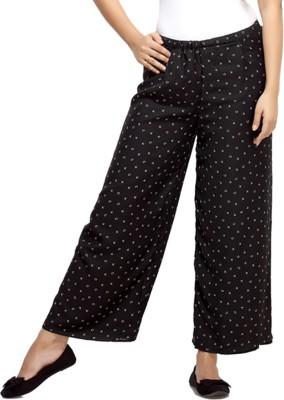 Loco En Cabeza Regular Fit Women's Black Trousers