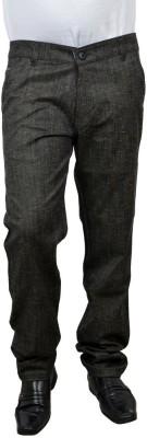 Risingfeathertofly Slim Fit Men's Blue Trousers