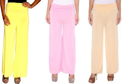 Zadine Regular Fit Women,s Yellow, Pink, Beige Trousers
