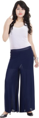 SANA FAB Regular Fit Women's Blue Trousers