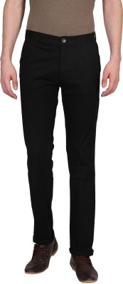 Urban Nomad By INMARK Slim Fit Men's Black Trousers