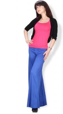 Ten on Ten Regular Fit Women's Blue Trousers