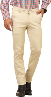 Cottinfab Regular Fit Men's Beige Trousers