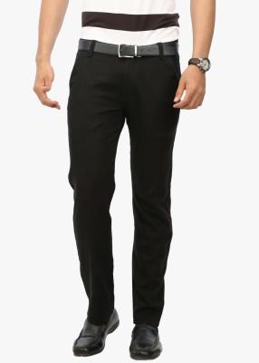Wear Your Mind Slim Fit Men's Black Trousers