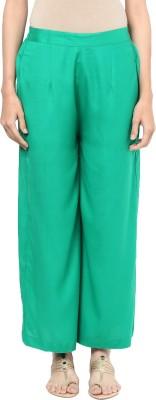 Indibox Regular Fit Women's Green Trousers at flipkart