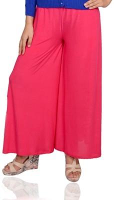 Vama Regular Fit Women's Pink Trousers
