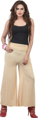 FamGlam Regular Fit Women's Gold Trousers