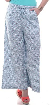 Lyla Regular Fit Women's White, Green Trousers