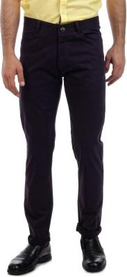 Sting Slim Fit Men's Linen Purple Trousers