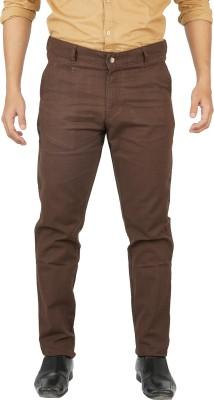 Hunter Regular Fit Men's Brown Trousers