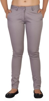 Soie Slim Fit Women's Grey Trousers at flipkart