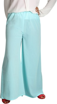 Shahfali Regular Fit Womens Green Trousers