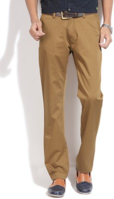 Arrow Sport Slim Fit Men's Beige Trousers