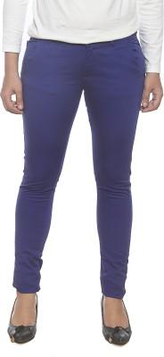 Spykar Slim Fit Women's Blue Trousers