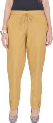 Poopii Regular Fit Women's Yellow Trousers