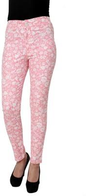 99Hunts Slim Fit Women's Pink Trousers