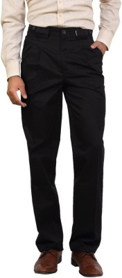 Bottoms Regular Fit Men's Black Trousers