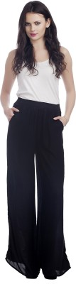 MansiCollections Regular Fit Women's Black Trousers