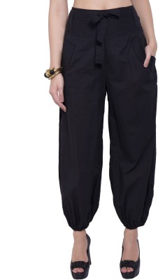 Tuntuk Regular Fit Women's Black Trousers