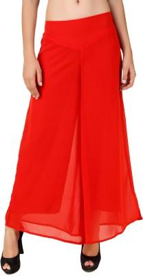 RoseBella Regular Fit Women's Red Trousers