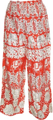 Indiatrendzs Regular Fit Women's White, Red Trousers