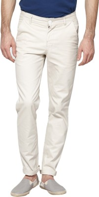 Hubberholme Slim Fit Men's White Trousers