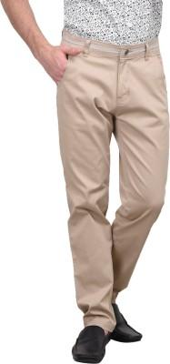 Srota Slim Fit Men's Beige Trousers