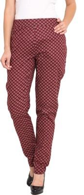 Nvl Regular Fit Women's Maroon, Beige Trousers