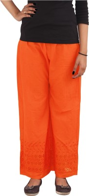 Xarans Regular Fit Women's Orange Trousers