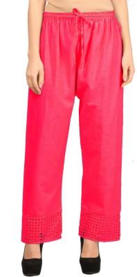 Vastraa Fusion Regular Fit Women's Pink Trousers