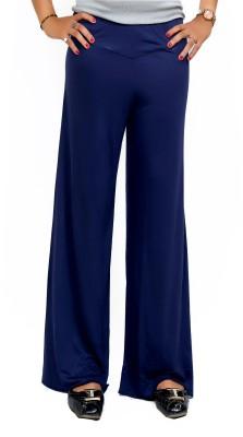 Lady in Red Regular Fit Women's Dark Blue Trousers