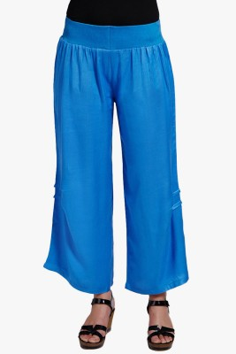 PNY Regular Fit Women's Blue Trousers at flipkart