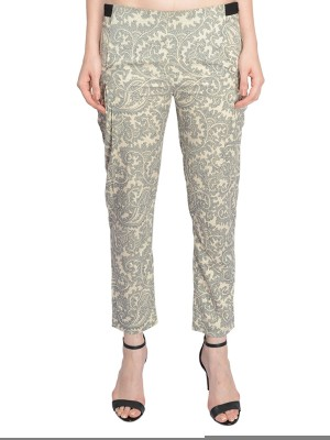 Nangalia Ruchira Slim Fit Women's Multicolor Trousers