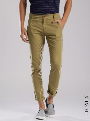 HRX by Hrithik Roshan Regular Fit Men's Brown Trousers