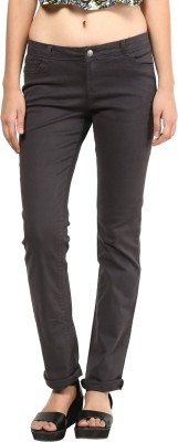 La Rochelle Slim Fit Women's Black Trousers